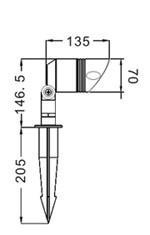 Outdoor LED Spike Light - 4*1Watt (M1013)