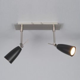Twin Spotlight Bar - Black GU10